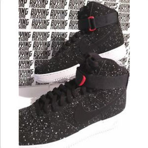 1 White Nwt Air Force '07 Black Polka High Dot 1c3TlFJK